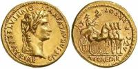 Mince císař Tiberius Augustus